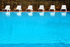 Luxury swimming pool Stock Images