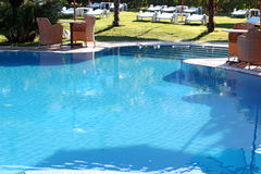 Luxury Swimming Pool. Luxurious open air swimming pool at resort Royalty Free Stock Photos
