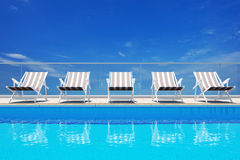 Luxury swimming pool Royalty Free Stock Photo