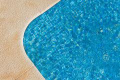 Luxury swimming pool - corner section - showing movement in water Stock Photo