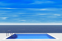 Luxury swimming pool Royalty Free Stock Photos