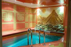 Luxury swimming pool in hotel. Big and luxury swimming pool in hotel Royalty Free Stock Photos