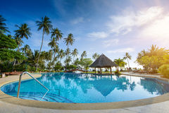 Luxury swimming pool in phi phi thailand paradise Royalty Free Stock Image