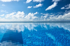Luxury tropical swimming pool. Luxury swimming pool in the tropical hotel Royalty Free Stock Photography