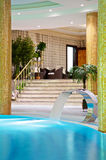 Luxury swimming pools Stock Photography