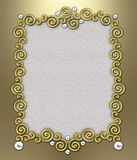 Luxury Swirl Frame royalty free stock images