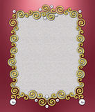 Luxury Swirl Frame stock photo