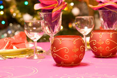 Luxury table set of a dinner Royalty Free Stock Photos