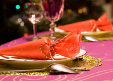 Luxury table set of a dinner Stock Photography