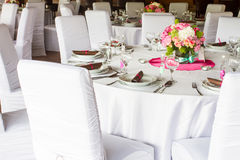 Luxury table set Stock Photo