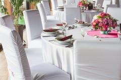 Luxury table set Royalty Free Stock Photos