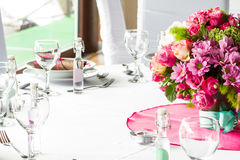 Luxury table set Stock Images
