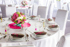Luxury table set Royalty Free Stock Image