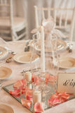Luxury table setting Royalty Free Stock Photo