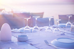 Luxury table setting Stock Images