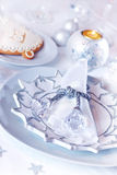 Luxury table setting for Christmas Stock Image
