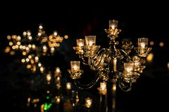 Luxury Table setting for party, Christmas, holidays and weddings Royalty Free Stock Photos