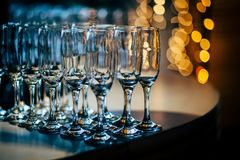 Luxury Table setting for party, Christmas, holidays and weddings Stock Photos