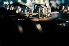 Luxury Table setting for party, Christmas, holidays and weddings Stock Photography