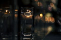 Luxury Table setting for weddings and social events. Luxury table settings for fine dining with and glassware, beautiful blurred  background. For events Royalty Free Stock Image