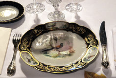 Luxury Tableware for royal palace Royalty Free Stock Images