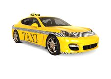 Luxury Taxi concept Royalty Free Stock Photography