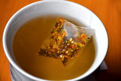 Luxury tea bag in cup Stock Photo