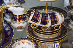 Luxury tea set Royalty Free Stock Photo