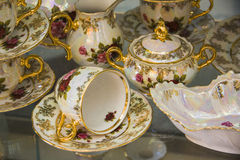 Luxury tea set Royalty Free Stock Images