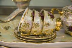 Luxury teacups Royalty Free Stock Photo