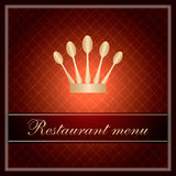 Luxury template for a restaurant menu Stock Images