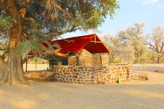 Luxury tent lodge, back to nature, Namibia Stock Photography
