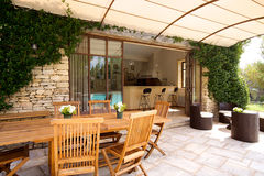 Luxury terrace. Outside a beautiful house Stock Images