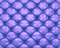 Luxury texture of blue leather furniture with buttons. On it Stock Image