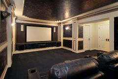 Luxury theater room stock images