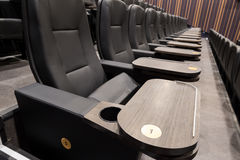 Luxury theater seats Royalty Free Stock Images