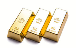 Luxury three gold bars. 