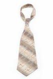 Luxury tie on white. Royalty Free Stock Image