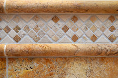 Luxury tile detail bathroom Royalty Free Stock Photos