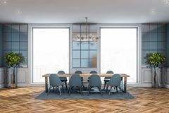 Luxury tile dining room interior stock photography