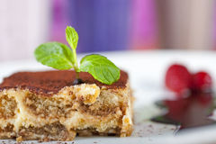 Luxury tiramisu dessert Royalty Free Stock Images