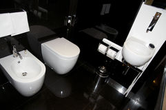 Luxury toilet in hotel Royalty Free Stock Photos