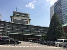 The luxury Tokyo Okura Hotel Stock Photo