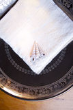 Luxury towel in silver scale Stock Image
