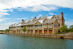 Luxury Townhouses Stock Image