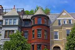 Luxury townhouses near Dupont Circle in US capital. Royalty Free Stock Photography