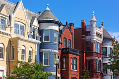Luxury townhouses near Dupont Circle in Washington DC. Royalty Free Stock Photo