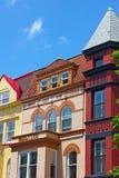 Luxury townhouses near Dupont Circle in Washington DC. Stock Photos