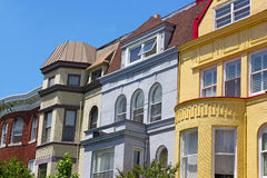 Luxury townhouses near Dupont Circle in Washington DC. Royalty Free Stock Photography