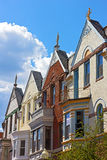 Luxury townhouses of Washington DC, USA. Stock Photo